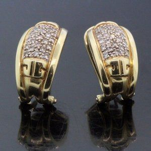Women's 14k Yellow Gold & Diamond Earrings